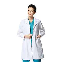 Médica blusa blanca manga larga espesamiento masculino xl