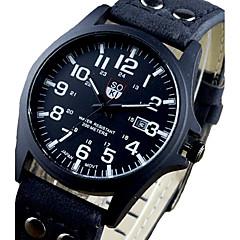 Soki relojes de moda los deportes de los hombres de la marca de relojes de cuero de tres relojes de pulsera de cuarzo analógico montres