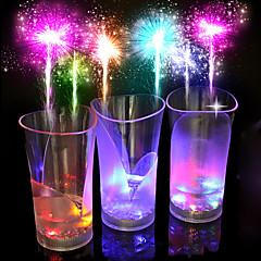 1pc farverige kreativ pub ktv LED lampe nat lys førte drinkware