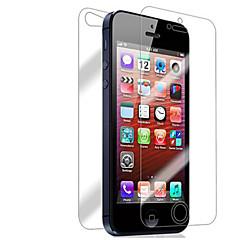 [8パック] iphone 5 / 5S用の前面と背面の網膜スクリーンプロテクター