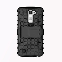 Luxury Armor Shock Proof Hybrid TPU Silicone + Hard Protective Back Cover Case for LG K10  with Stand