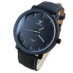 Unisex's Fashion Quartz Wrist Casual Watches Leather Belt Simple Round Alloy Dial Cool Watches Unique Watches
