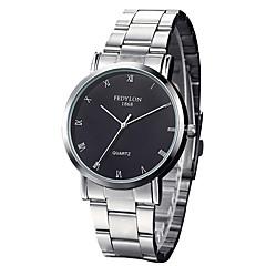Masculino Relógio Elegante / Relógio de Moda / Relógio de Pulso Quartz Impermeável Aço Inoxidável Banda Legal Prata marca