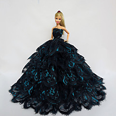 Party/Evening Dresses For Barbie Doll Black / Blue Dresses For Girl's Doll Toy
