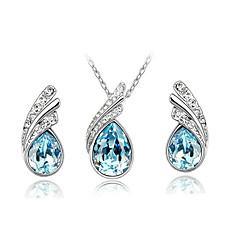 Ensemble de bijoux Cristal Strass Alliage Mode Violet Fuchsia Rouge Bleu marine Collier / Boucles d'oreilles Quotidien Décontracté 1set