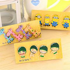 Fresh Small Cute Little Wooden Cartoon Fridge Magnet Korea Magnetic Stickers 4 Into