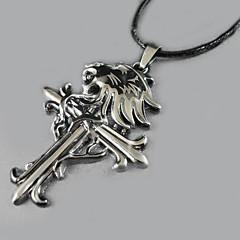 lobo - collar colgante de la cruz