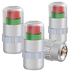 quatre pression capuchon métallique des pneus installés pneu surveillance bouchon de valve de pression