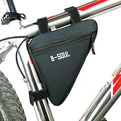 B-SOUL CykelväskaVäska till cykelramen Vattentät dragkedja Fuktighetsskyddad Stötsäker Bärbar Cykelväska Polyester PVC Terylen