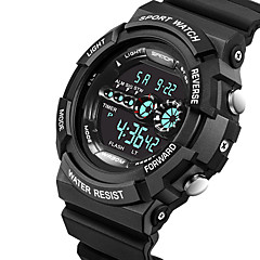 SANDA® Men's Fashion Sport Digital LCD Screen Waterproof Rubber Watch Fashion Wrist Watch Cool Watch