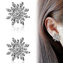 Dames Oorknopjes Modieus Kostuum juwelen Strass Legering Alfabetvorm Sneeuwvlok Sieraden Voor Feest Dagelijks Causaal
