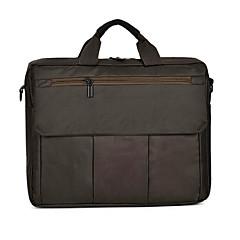 sac à main d'ordinateur portable de toile 15inch noir / gris / marron