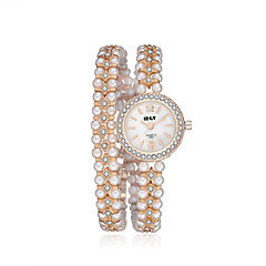 2016 Jewelora Pearl Luxury Noble Cubic Zircon Gold Quartz Women Party Watches