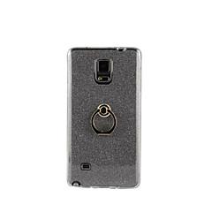 Voor Samsung Galaxy Note Ringhouder hoesje Achterkantje hoesje Glitterglans Zacht TPU Samsung Note 5 / Note 4 / Note 3