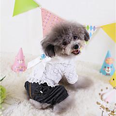 Pies Kombinezon Ubrania dla psów Kowboj Modny Jeansy White