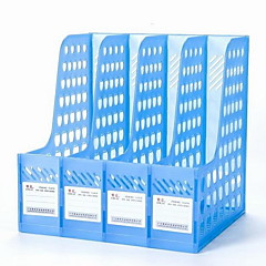 Office Supplies Transparent Plastic Four Columns File Holder