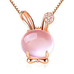 Necklace Pendant Necklaces Jewelry Daily / Casual Fashion Silver Pink 1pc Gift