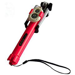 Bluetooth selfie Stick Με Ένα καλώδιο / Τηλεχειριστήριο / Μια αυτοπορτρέτα Stick για Android / iOS