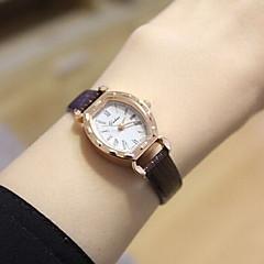 Casal Relógio Elegante Relógio de Moda Quartzo Relógio Casual PU Banda Vintage Preta Branco Marrom Branco Preto Marron