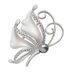 yapay elmas rozetleri dolu kadın kristal kelebek toka moda Noel hediye broş eşarp