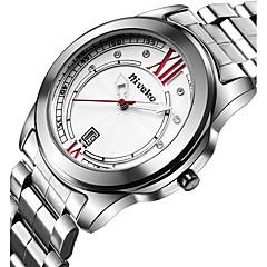 Мужской Нарядные часы / Модные часы / Наручные часы Кварцевый Календарь Нержавеющая сталь Группа Cool / Повседневная Серебристый металл