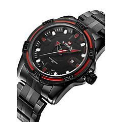 Pánské Vojenské hodinky / Módní hodinky / Náramkové hodinky Japonské Quartz Kalendář / Voděodolné Nerez Kapela Cool Černá Značka