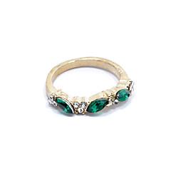 Gyűrűk Napi Ékszerek Ötvözet Strassz Női Vallomás gyűrűk 1db,8 Zöld