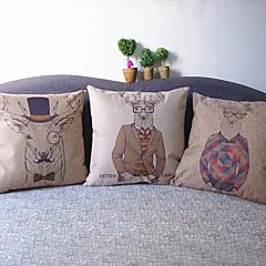 Bielizna / Syntetyczny Pokrywa Pillow,Zwierząt Drukuj Przypadkowy