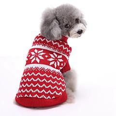 Macskák Kutyák Pulóverek Kutyaruházat Tél Tavasz/Ősz Csík Aranyos Karácsony Újévi Piros Kék