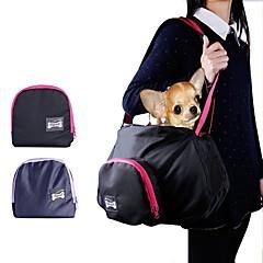Gato / Perro Transportines y Mochilas de Viaje / Mini Mensajero Mascotas Portadores Portátil / Transpirable Negro / Gris Nylón