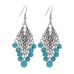 Κρεμαστά Κολιέ Επάργυρο Τυρκουάζ Κράμα Πεπαλαιωμένο Βοημία Style Κλασσικά Geometric Shape Μπλε Κοσμήματα Καθημερινά Causal 1 ζευγάρι