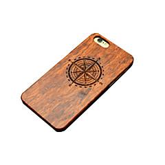 ξύλινη θήκη iPhone Πυξίδα Το βόρειο σκάλισμα concavo κυρτή σκληρό πίσω εξώφυλλο για το iphone 5 / 5δ