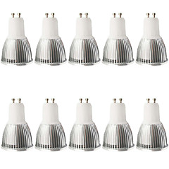 5W GU10 LED Spotlight MR16 1 COB 480LM lm Warm White / Cool White Dimmable / Decorative AC 100-240 / AC 110-130 V 10 pcs