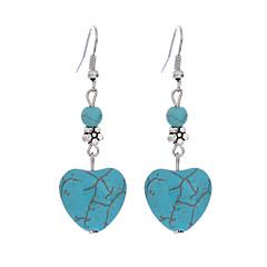 Επάργυρο Τυρκουάζ Κράμα Καρδιά Πεπαλαιωμένο Βοημία Style Μοντέρνα Heart Shape Μπλε Κοσμήματα Καθημερινά Causal 1 ζευγάρι