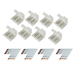 Z®ZDM 4 Group 4-Pins Solderless Connector For 10MM 5050 RGB LED Strip Lights
