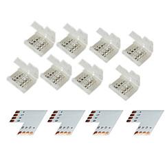 z®zdm 4 groupe 4 broches connecteur  pour 10mm 5050 rgb conduit lumières de bande
