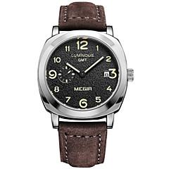 Herren Sportuhr / Kleideruhr / Armbanduhr Quartz Kalender / Chronograph / / Leder Band Bequem Braun Marke