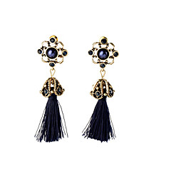 Bohemian Vintage Ethnic Hollow Flower Drop Earrings Crystal Rhinestone Tassel Dangle Earrings For WomenFine Jewelry