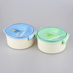 YOOYEE Brand Best Round Shape Double Layer/Dual Compartment Microwavable insulated Lunch Box
