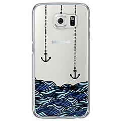Varten Samsung Galaxy S7 Edge Ultraohut / Läpinäkyvä Etui Takakuori Etui Ankkuri Pehmeä TPU SamsungS7 edge / S7 / S6 edge plus / S6 edge