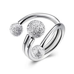 GyűrűkSexy / Divat Esküvő / Parti / Napi / Hétköznapi Ékszerek Ezüst Női Vallomás gyűrűk 1db,Állítható Ezüst