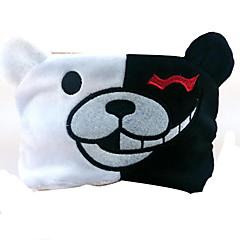 ours noir et blanc mignon patch visage deux bande dessinée protection des yeux d'anime périphérique (livraison aléatoire)