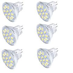 4W GU4(MR11) LED-spotlys MR11 15 SMD 5733 350 lm Varm hvid Kold hvid Dekorativ 30-09-16 V 6 stk.