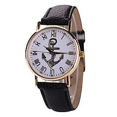 לנשים שעוני אופנה קווארץ שעונים יום יומיים עור להקה שחור / לבן / אדום מותג-
