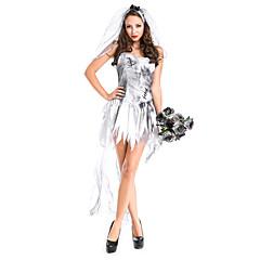 Costumes Ghost / Zombie / Vampires Halloween / Christmas / Carnival White Vintage Terylene Dress / Headwear