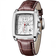 MEGIR® 2015 Top Men Quartz Watches with 3 Small Dial Fashion Brands For Business Cool Watch Unique Watch