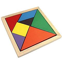 Tangram Educatief speelgoed Legpuzzel Houten puzzels Kleurrijk Klassiek Jongens Meisjes 7