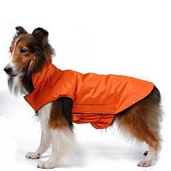 Gatos / Perros Abrigos / Chaleco / Chaqueta Rojo / Negro / Azul / Rosado / Amarillo / Naranja Ropa para Perro Invierno Un ColorA Prueba