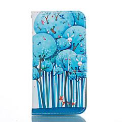 For Samsung Galaxy etui Kortholder Med stativ Flip Mønster Etui Heldækkende Etui Træ Blødt Kunstlæder for SamsungS7 edge S7 S6 edge plus
