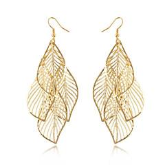 Tupsut Muoti Bohemia Style Metalliseos Leaf Shape Kultainen Korut Varten Päivittäin Kausaliteetti 1 pari